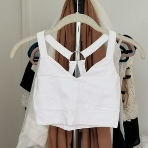 ASOS White Crop Top with Ring, Size 0